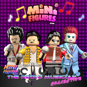 The Retro Muscians Collection minifigure