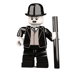 The Little Tramp minifigure