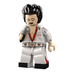 The King minifigure