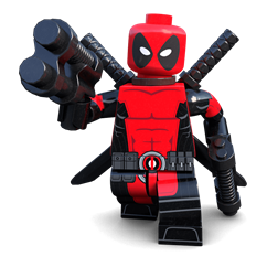 Mouthy Merc minifigure
