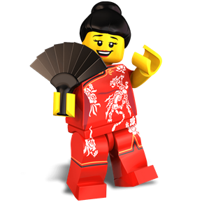New Years Reveler minifigure