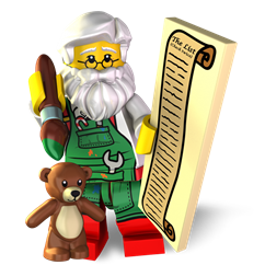 Workshop Santa minifigure