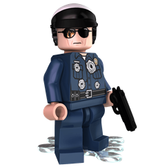 Mimetic Cop minifigure