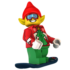 Faceplant the Elf minifigure