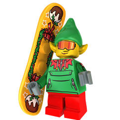 Halfpipe the Elf minifigure