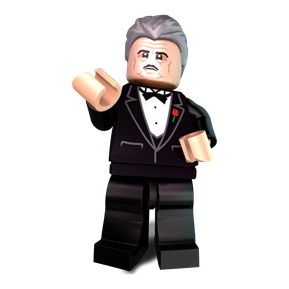The Blockfather minifigure